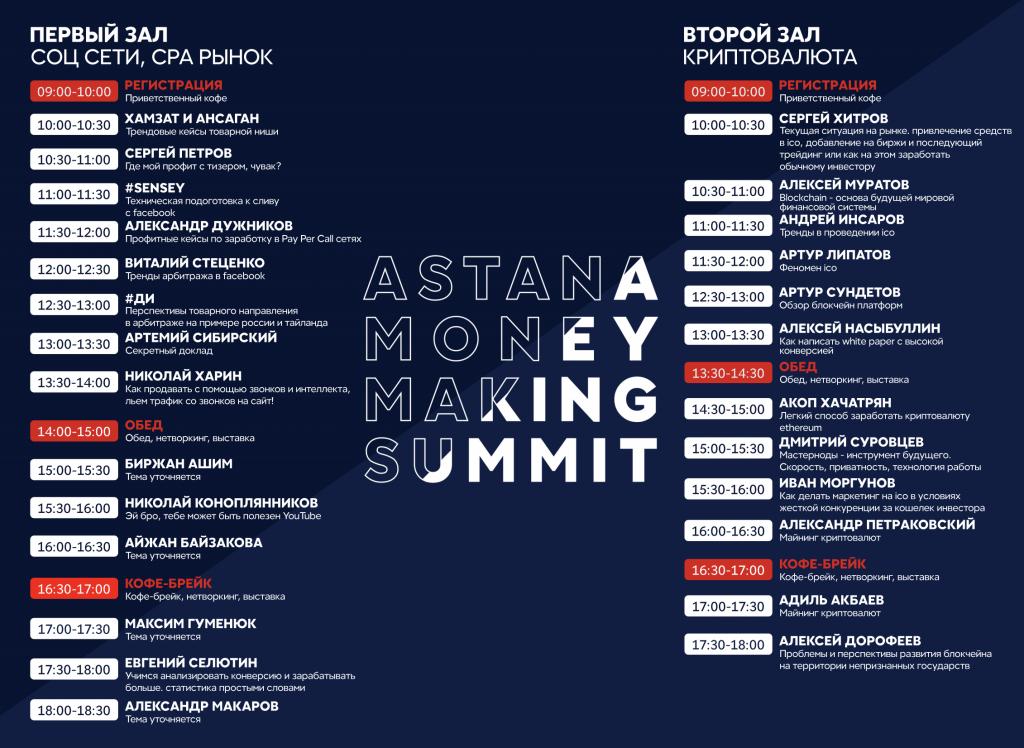 Astana MoneyMakers Summit